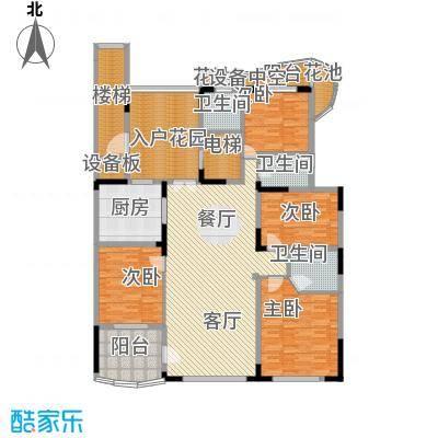 大学城馨园176.00㎡D2-C2栋12层-01单元三阳台户型4室1厅3卫1厨
