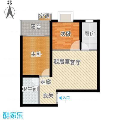 东方花园77.54㎡东方花园户型图C户型(6/9张)户型2室1厅1卫