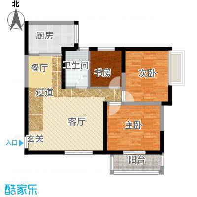 卡布奇诺国际社区110.80㎡B户型3室2厅1卫