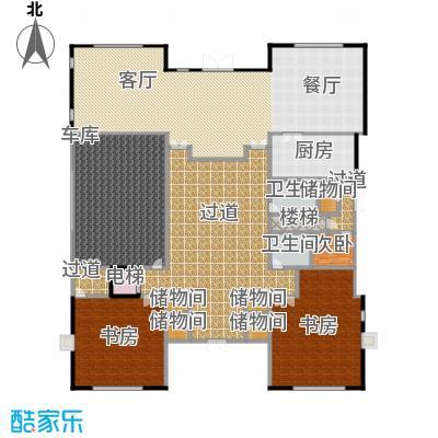 财富城堡567.00㎡b1-7首层平面图户型10室