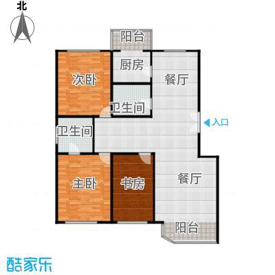 晨光国际花园148.84㎡-2户型3室1厅2卫1厨