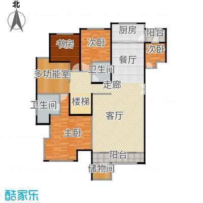 领秀・翡翠山150.00㎡F1下跃户型4室2厅2卫