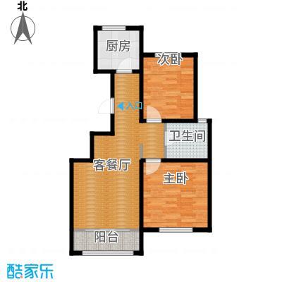 曹妃甸生态城彩虹嘉园89.50㎡户型2室2厅1卫