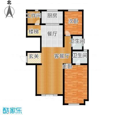 宜和澜岸112.08㎡A4跃层首层户型10室