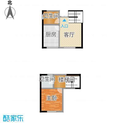 爱尚公寓93.00㎡跃户型1室2厅2卫