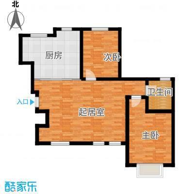 听涛苑106.00㎡B4户型2室2厅1卫