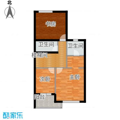 富力童话时光71.19㎡上叠四层户型10室