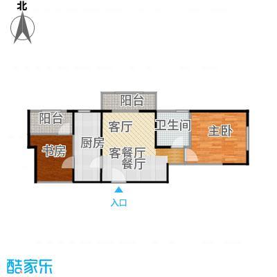 北宁湾83.00㎡D户型1室1厅1卫