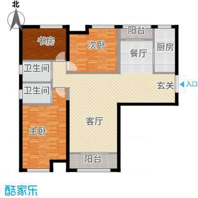 振业城中央130.67㎡户型3室2厅2卫
