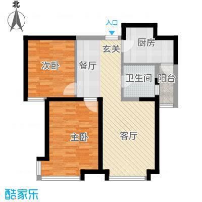 远洋万和城72.30㎡户型10室