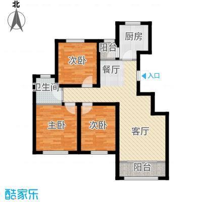 曹妃甸生态城彩虹嘉园112.00㎡户型3室2厅1卫