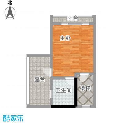 戴斯大卫营43.35㎡(已售完)A栋下坡双花园双露台一阳台总四层户型1室1卫