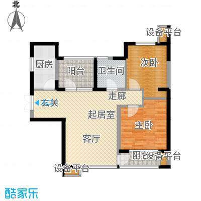 永泰枕流GOLF公寓94.90㎡D 2室2厅1卫户型
