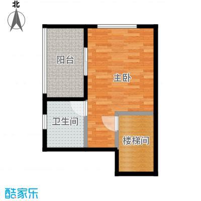 戴斯大卫营93.88㎡迷你别墅G1-6叠上二层户型1室1卫