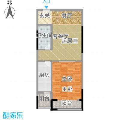 仁恒河滨花园74.00㎡E52/4号楼0户型1室1厅1卫1厨