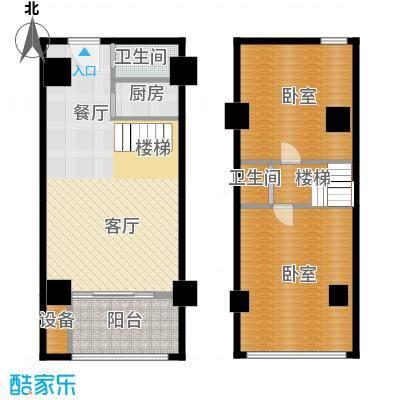 领秀公馆43.76㎡B2复式户型10室