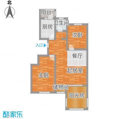 弘祥家园96.00㎡1、2、3#楼A单元首层户型10室