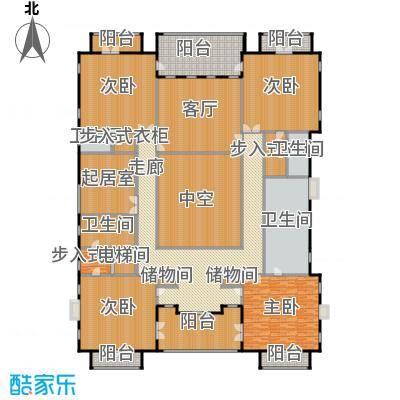 财富城堡567.00㎡b1-8二层平面图户型10室