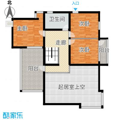 龙顺御墅307.00㎡二层平面图户型3室2厅1卫