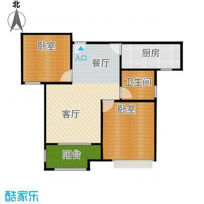 太湖国际社区89.00㎡C2户型2室2厅1卫