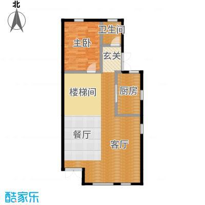 贻成水木清华80.84㎡别墅三期TH1一层户型10室