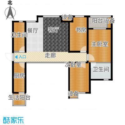 龙湖紫都城120.85㎡-户型1室2卫1厨
