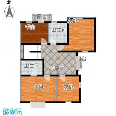 大宁山庄99.84㎡C改二层户型4室2卫