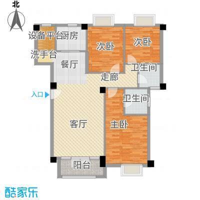联发滨海琴墅118.00㎡C1户型3室2厅2卫