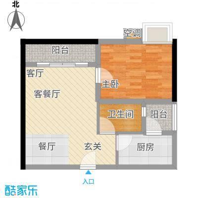 元美广场户型1室1厅1卫1厨