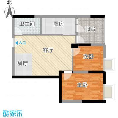 君和源63.72㎡1-22层户型2室1厅1卫1厨