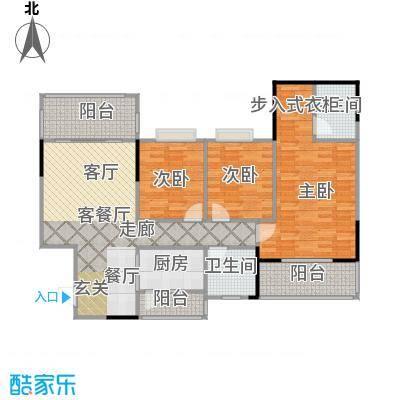 金河湾家园1幢首层03户型3室1厅2卫1厨