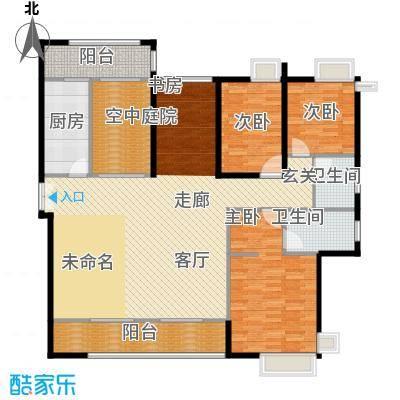 金域中央天玺148.39㎡33栋02户型3室1厅2卫1厨