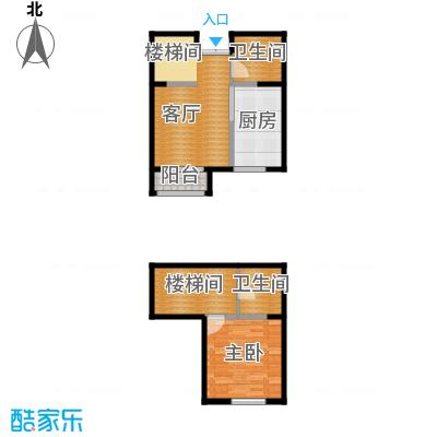 爱尚公寓92.00㎡跃户型1室2厅2卫