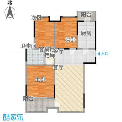 万科柏悦湾95.00㎡三期T11栋标准层03户型3室1厅1卫1厨