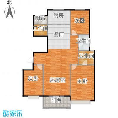 宜和澜岸130.70㎡A4标准层奇数层户型10室