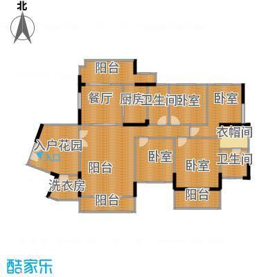 信基城181.22㎡C1-1+工人房+超大入户花园+三阳台户型1厅2卫1厨