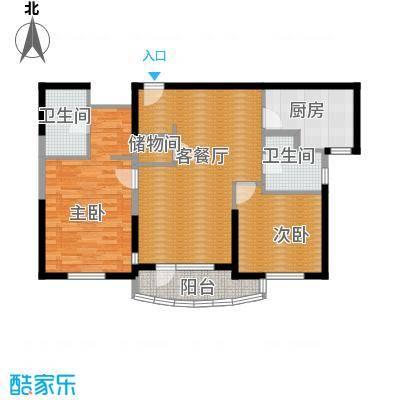 仁恒海河广场89.82㎡3#楼1门022户型2室2厅2卫