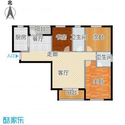 华茂品江132.00㎡C户型3室2厅2卫