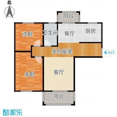 统建天成美雅96.00㎡二期1、3号楼A1户型2室2厅1卫