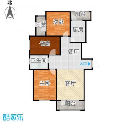 新发翡翠花溪115.00㎡高层蒙特奇诺G1户型3室2厅1卫