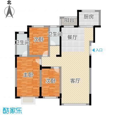 观澜湖别墅153.00㎡倚澜观邸二期2#楼高层2户型3室2厅2卫