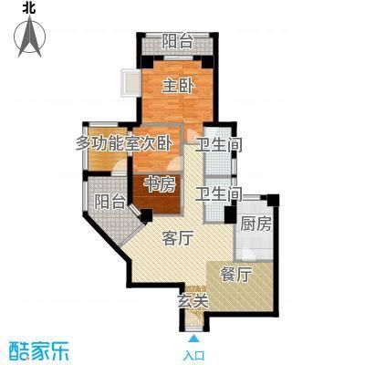居礼润园100.22㎡4&5号公寓户型3室1厅2卫1厨