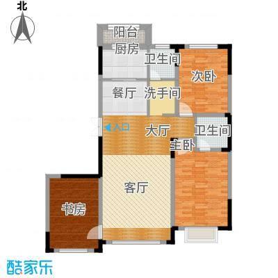 观澜湖别墅132.00㎡倚澜观邸二期5#楼高层1户型3室2厅1卫