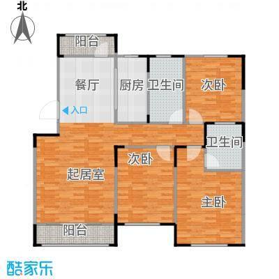 松江城洋房121.51㎡户型10室