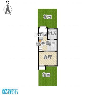 首创国际半岛285.00㎡H1-b首层户型10室