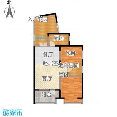 永泰枕流GOLF公寓97.17㎡一期6-7号门标准层C2户型2室2厅1卫