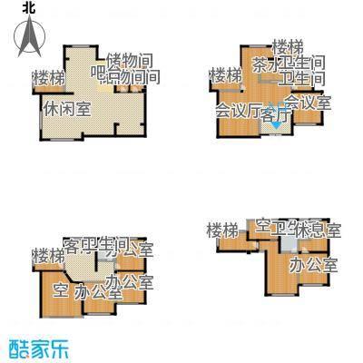 凤凰墅509.30㎡楼层平面图户型10室