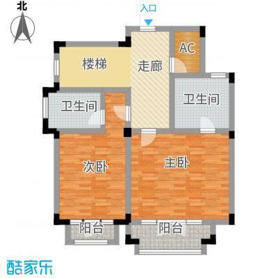 滨海湖B1二层平面图户型1室1厅1卫