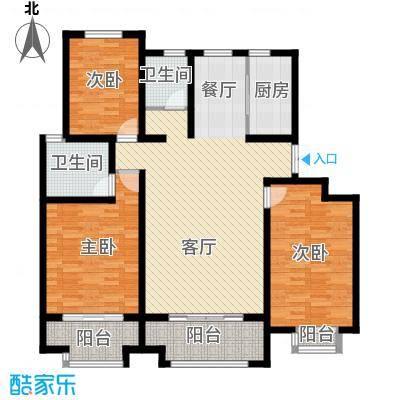 首创玲珑墅145.00㎡洋房A一至四层户型3室2厅2卫
