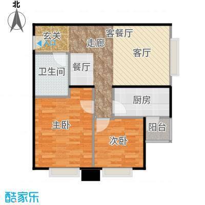北京明发广场84.92㎡A3户型2室1厅1卫1厨